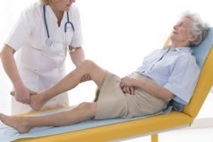 Пятна на ногах и теле у больных людей